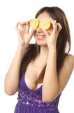 Lemon eyes Royalty Free Stock Image