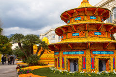 Lemon Festival (Fete du Citron) on the French Riviera. Menton, France- February20, 2015 Stock Image