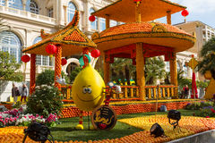Lemon Festival (Fete du Citron) on the French Riviera. Menton, France- February20, 2015 Royalty Free Stock Photography