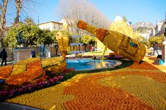 Lemon Festival (Fete du Citron) - Menton, France Stock Image