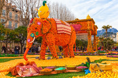 Lemon Festival (Fete du Citron), Menton, France. Royalty Free Stock Image