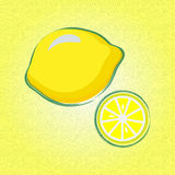 Lemon. Figure lemon on yellow background Stock Images