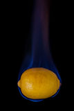 Lemon on fire Royalty Free Stock Images
