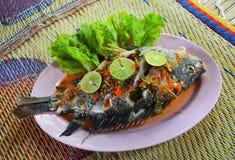 Lemon Fish Salad Royalty Free Stock Photography