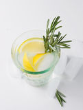 Lemon fizz in a glass Stock Photography