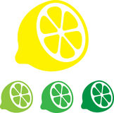 Lemon. Flat icons. Vector. Royalty Free Stock Images