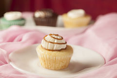 Lemon flavor cup cake Stock Photo