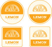 Lemon Flavor Food Labels Royalty Free Stock Photos