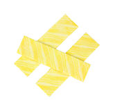 Lemon flavored gum. Three sticks of lemon flavored gum on a white background royalty free stock images