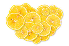 Lemon in the form of heart Stock Photography