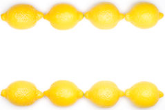 Lemon frame. Row of yellow lemon frame stock images