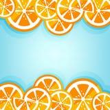 Lemon frame with blue background Stock Photography