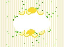 Lemon frame in vintage style. With copy space. Healthy lifestyle theme clean design Royalty Free Stock Photo