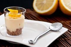 Lemon French dessert Royalty Free Stock Images