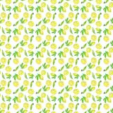 Lemon freshness seamless pattern, watercolor illustration. For packaging or design vector illustration