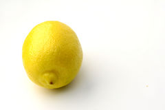 Lemon fruit. The fruit of the lemon tree on the white background Stock Images