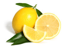 Lemon fruit. Vitamin c yellow Stock Photo
