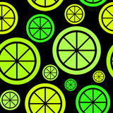 Lemon Fruit Abstract Seamless Pattern Background Stock Image