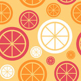 Lemon Fruit Abstract Seamless Pattern Background Stock Photos