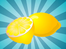 Lemon fruit  illustration Royalty Free Stock Image