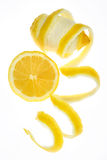 Lemon fruit isolated on white Royalty Free Stock Photos