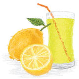 Lemon fruit juice Royalty Free Stock Image