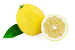Lemon Fruit and Lemon Half Stock Photos