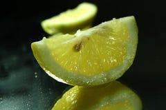 Lemon fruit slice stock images