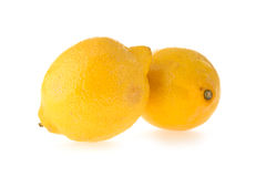 Lemon fruit sour Stock Images