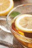 Lemon fruit tea Stock Photo