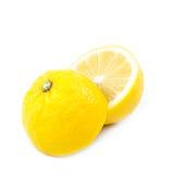 Lemon fruit on white background. Stock Photos