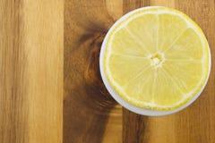 Lemon. Fruit on wooden background Royalty Free Stock Photo