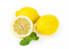 Lemon fruits on white Royalty Free Stock Photos