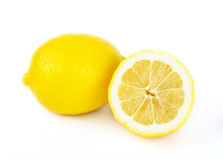 Lemon fruits on white Royalty Free Stock Image