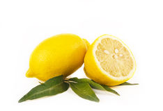 Lemon fruits on white Royalty Free Stock Photo