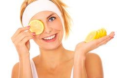 Lemon fun royalty free stock image