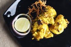 Lemon Garlic Tikka - a grilled chicken dish. Stock Image