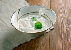 Lemon Garlic Yogurt Sauce Royalty Free Stock Photo