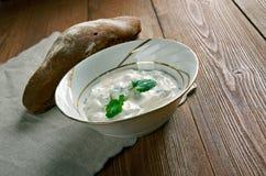 Lemon Garlic Yogurt Sauce Royalty Free Stock Photos