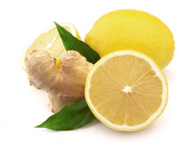 Lemon and ginger Stock Images