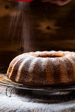 Lemon ginger bundt cake Stock Photos