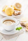 Lemon ginger tea. Cup of lemon ginger tea Royalty Free Stock Photography