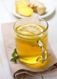 Lemon-ginger tea Royalty Free Stock Images
