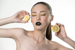 Lemon girl Royalty Free Stock Image
