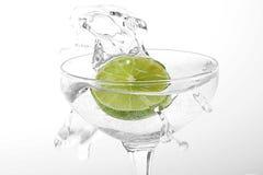 Lemon in glass stock photos