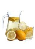 Lemon in glass on white eight Stock Images