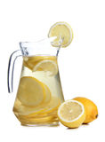 Lemon and glass on white Royalty Free Stock Image