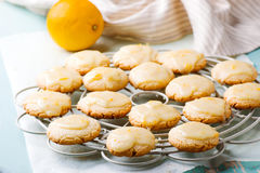 Lemon glaze cookies..style rustic Stock Photos