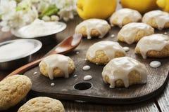 Lemon glaze cookies royalty free stock photos