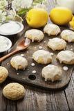 Lemon glaze cookies stock images